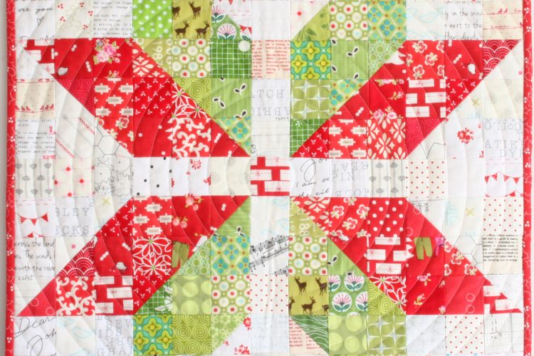 Snowflake quilt by Wooden Spoon Quilts