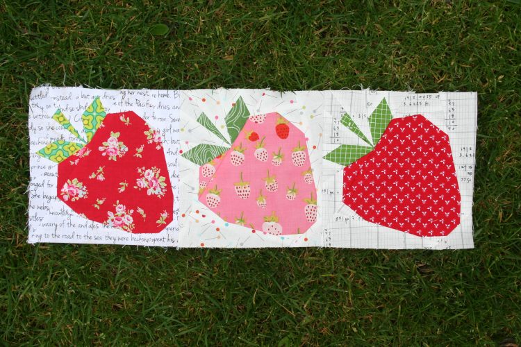 strawberries by wooden spoon quilts