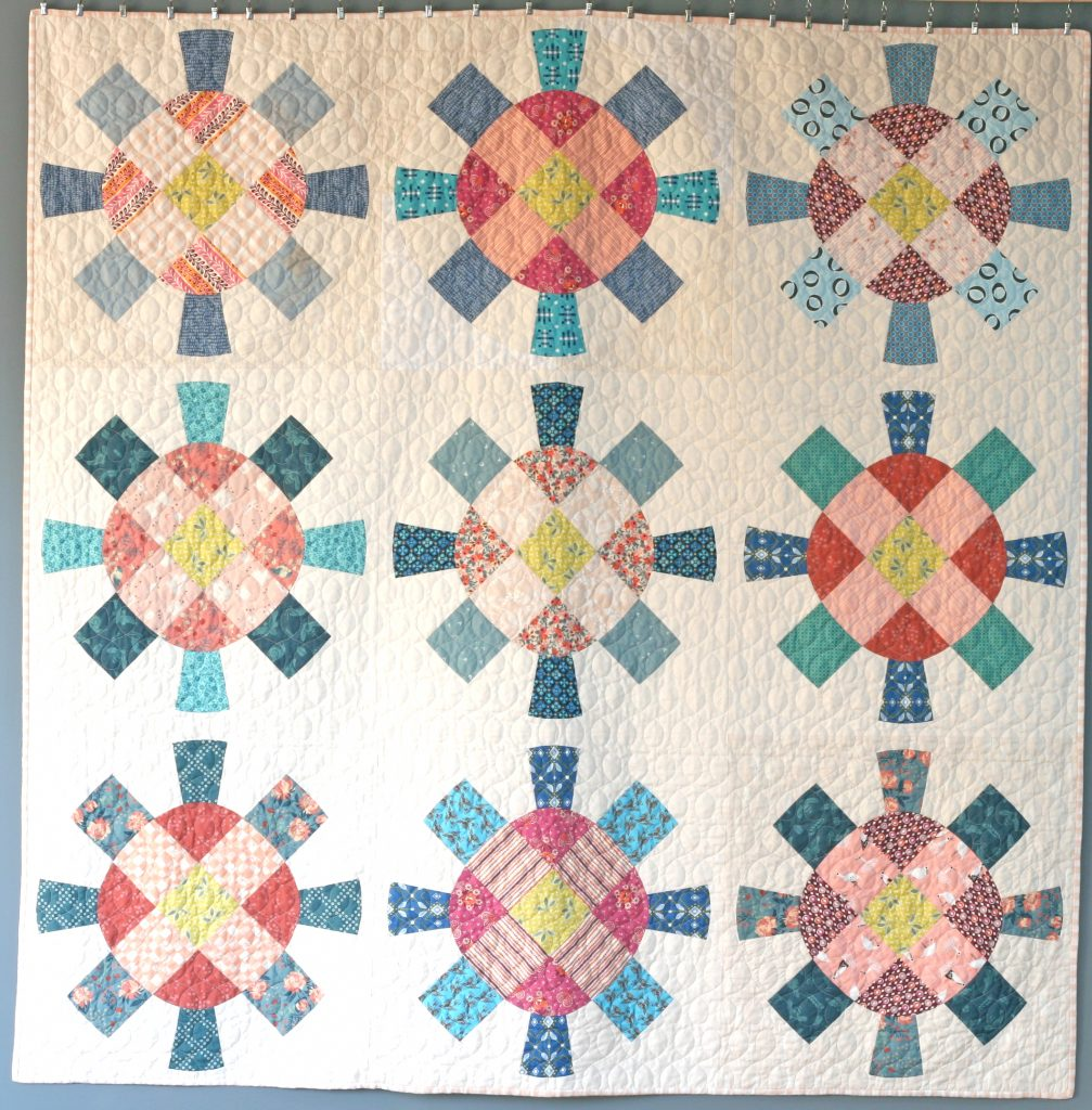 Cog and Wheel Quilt 3x3