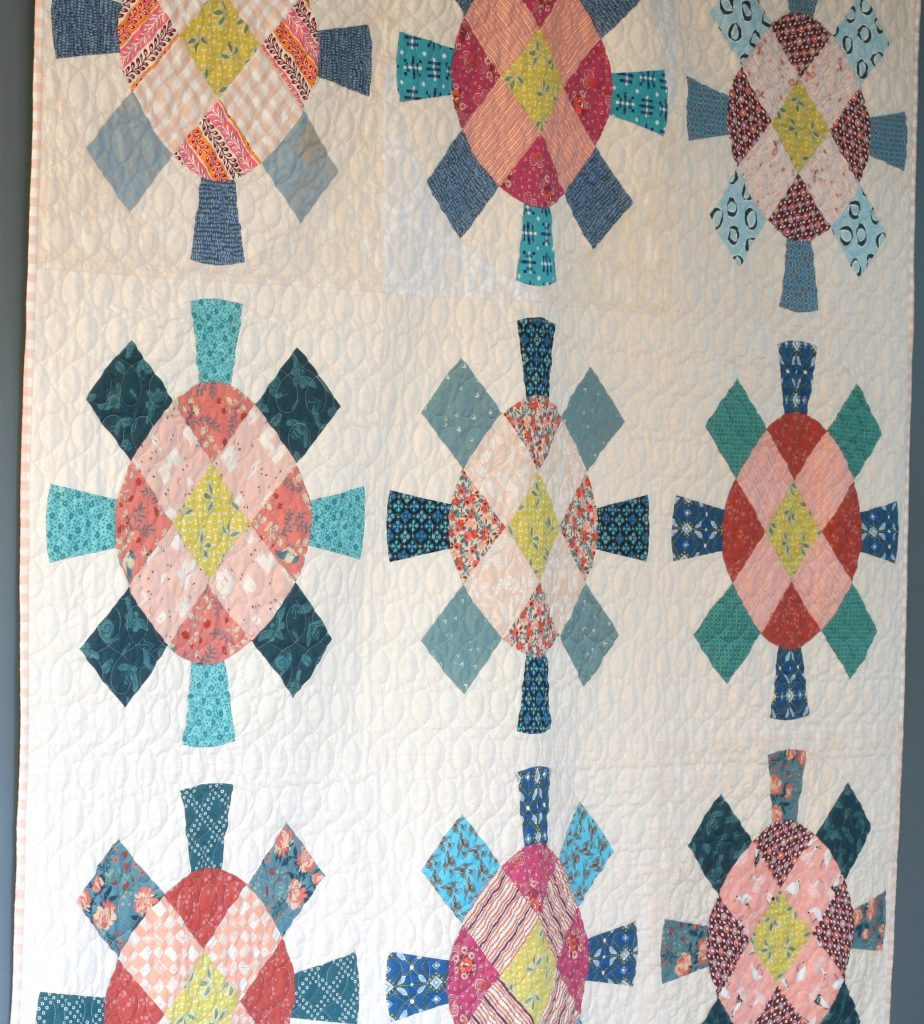 Cog and Wheel quilt by Wooden Spoon Quilts